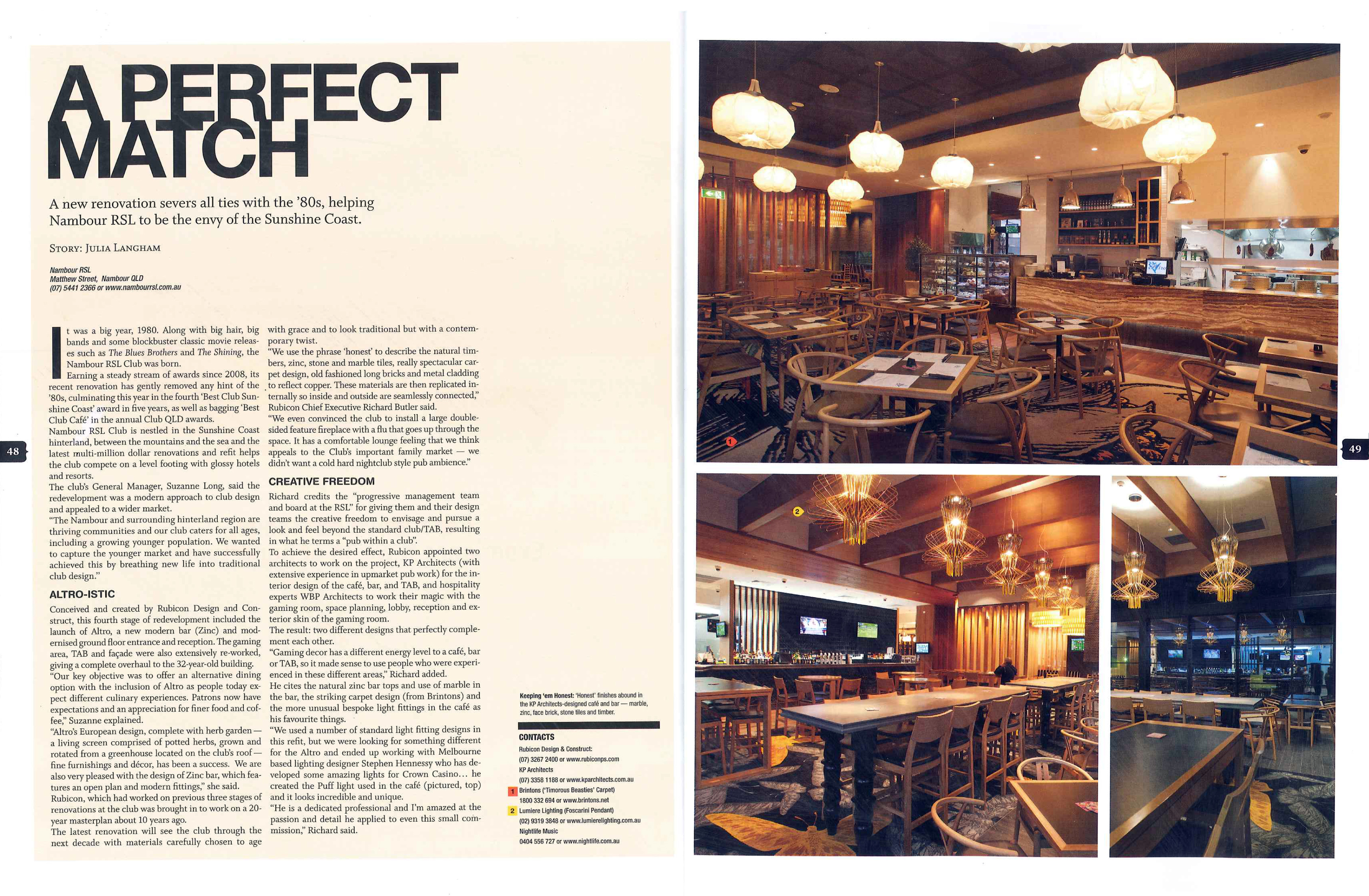 You Can Read The Full Articles On Venue Magazine Website Click Here For Rush OR Nambour